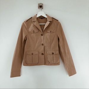 Theory tan fitted jacket